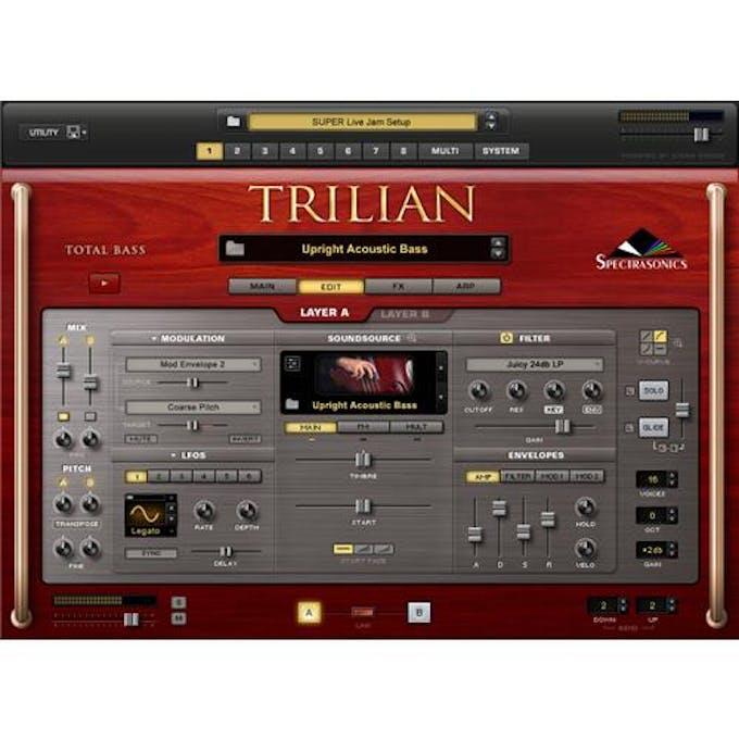 Spectrasonics Trilian Bass Virtual Instrument - Andertons Music Co