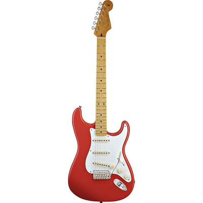 Fender Classic 50s Strat Electric Guitar Fiesta Red Maple Neck
