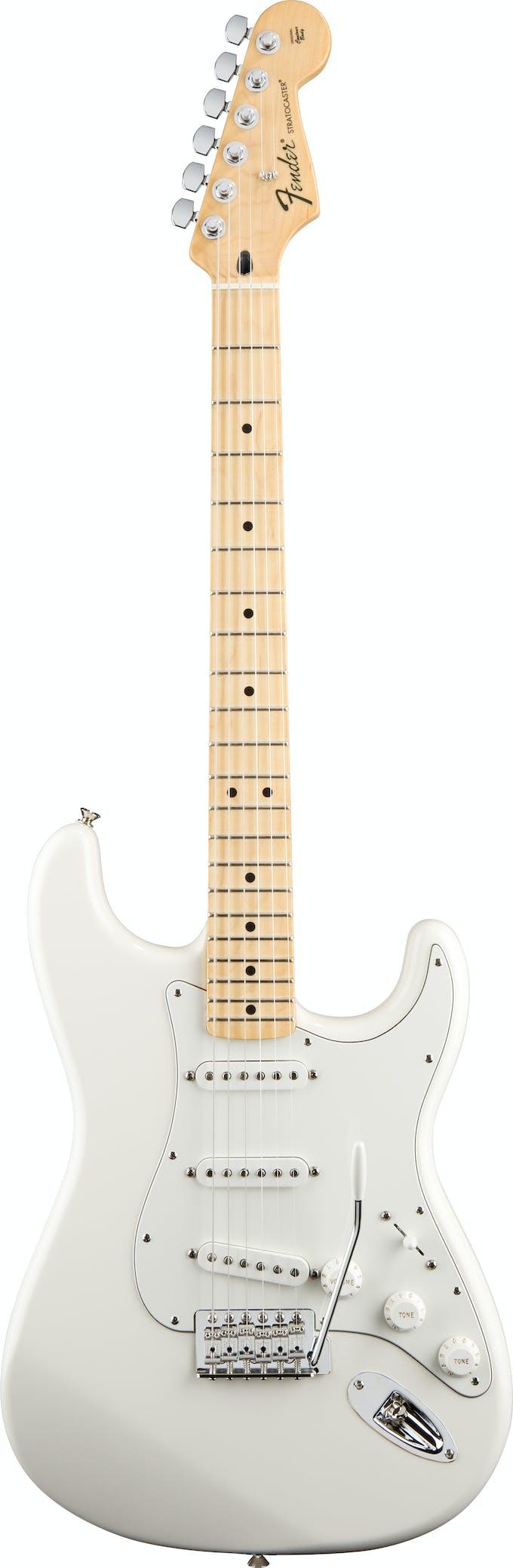 Fender Standard Strat Arctic White Maple Fretboard Andertons
