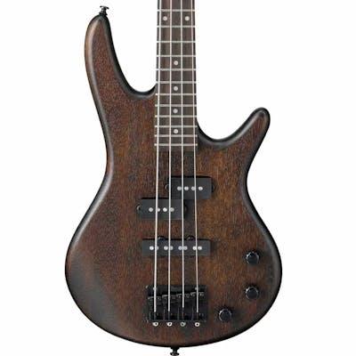 Ibanez GSRM20B-WNF GIO MIKRO Bass in Walnut Flat Bundle w/ Amp & Accessories
