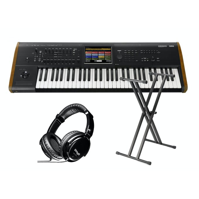 Korg Kronos 2 - 61 Key Bundle w/ Keyboard Stand & Headphones - Andertons  Music Co