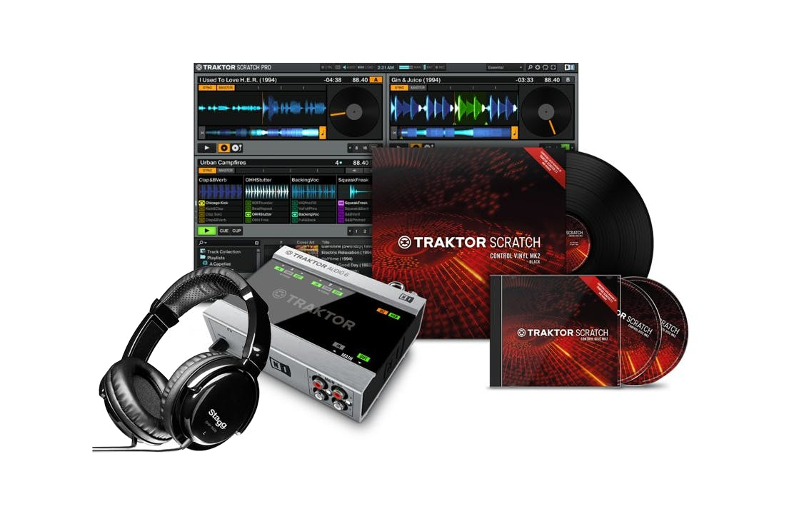 andertons native instruments traktor digital vinyl system dvs dj bundle andertons music co. Black Bedroom Furniture Sets. Home Design Ideas