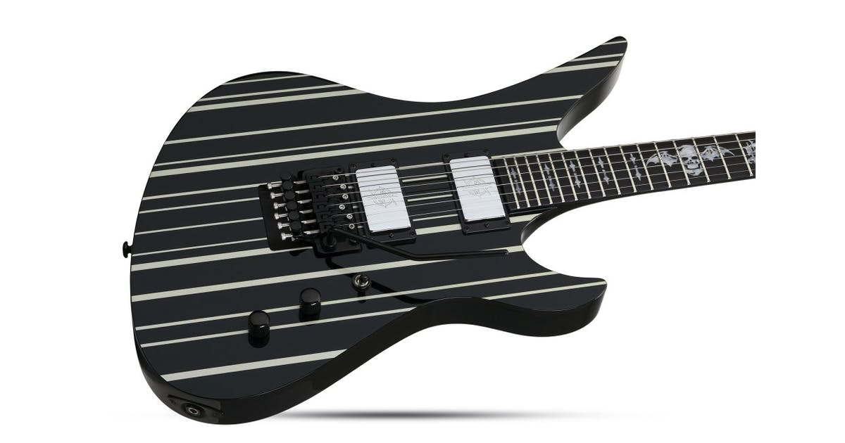 Schecter Synyster Gates Custom in Black/Silver w/ USA Pickups - Andertons  Music Co