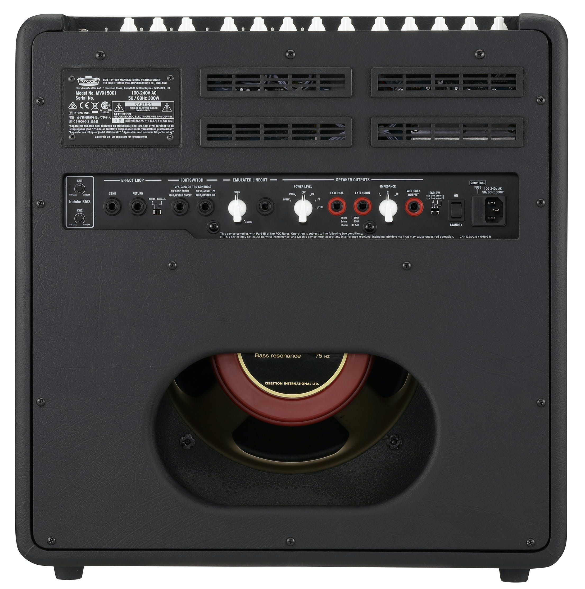 Vox Mvx150 Guitar 1x12 Combo Amp With Nutube Andertons Music Co Higain Speaker Listening Amplifier Circuit Kit Aa5