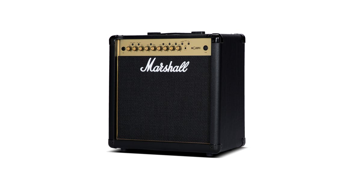 marshall mg50gfx black and gold 50w guitar combo andertons music co. Black Bedroom Furniture Sets. Home Design Ideas