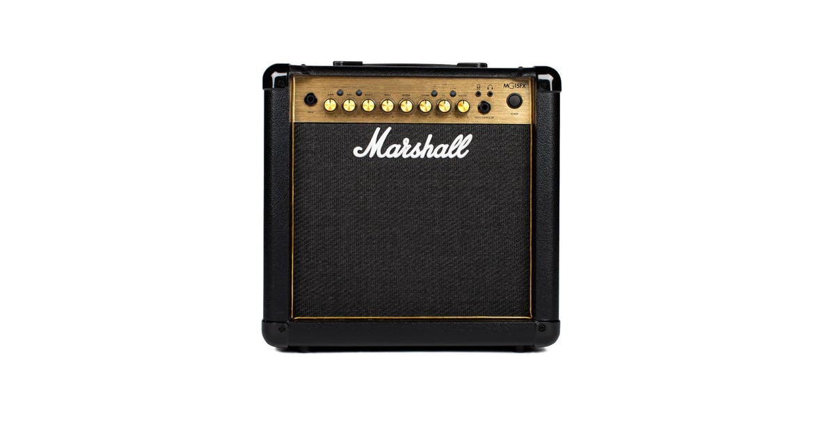 marshall mg15gfx black and gold 10w guitar combo andertons music co. Black Bedroom Furniture Sets. Home Design Ideas