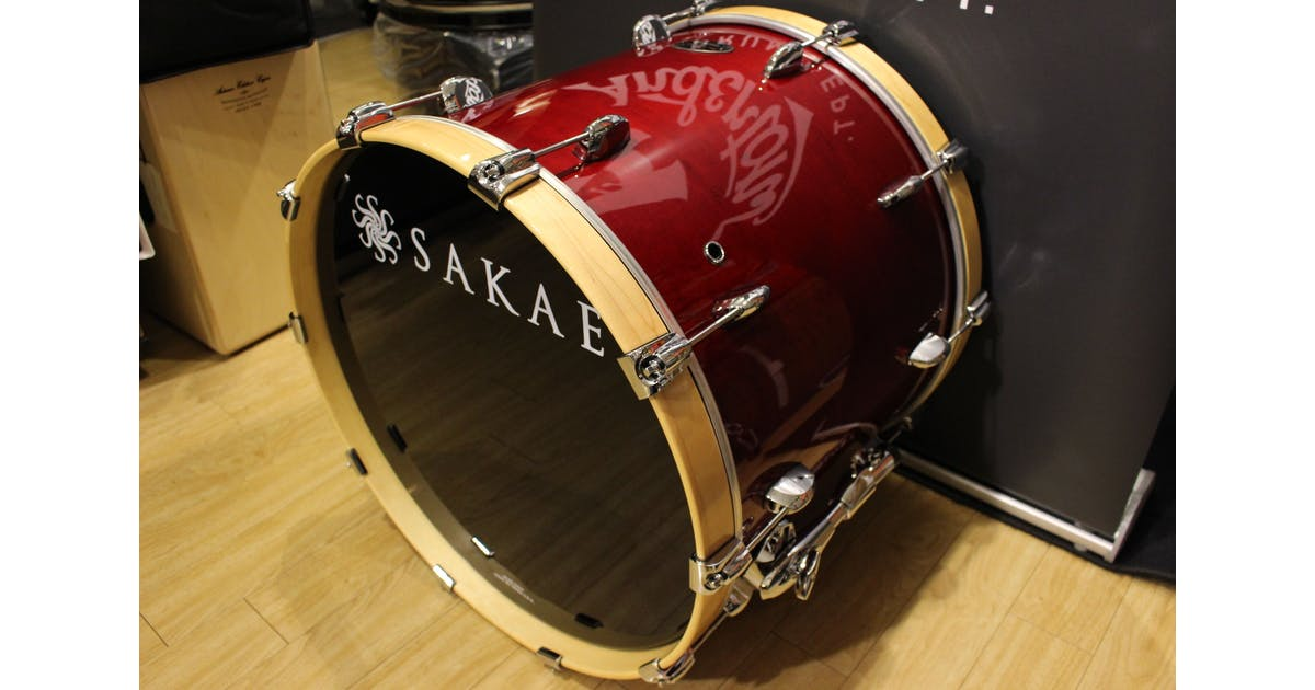 second hand sakae almighty 22x18 undrilled bass drum in blood red andertons music co. Black Bedroom Furniture Sets. Home Design Ideas