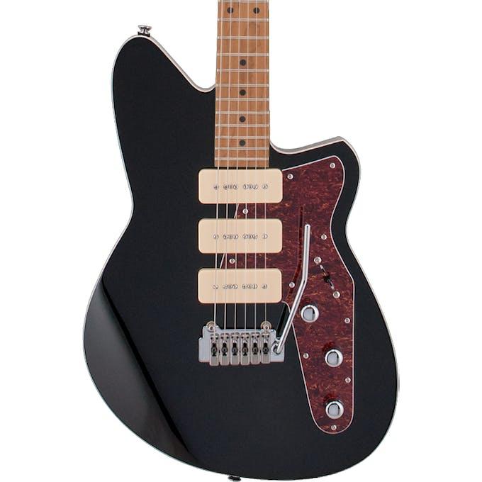 Reverend Jetstream 390 in Midnight Black w/ Wilkinson Tremolo - Andertons  Music Co