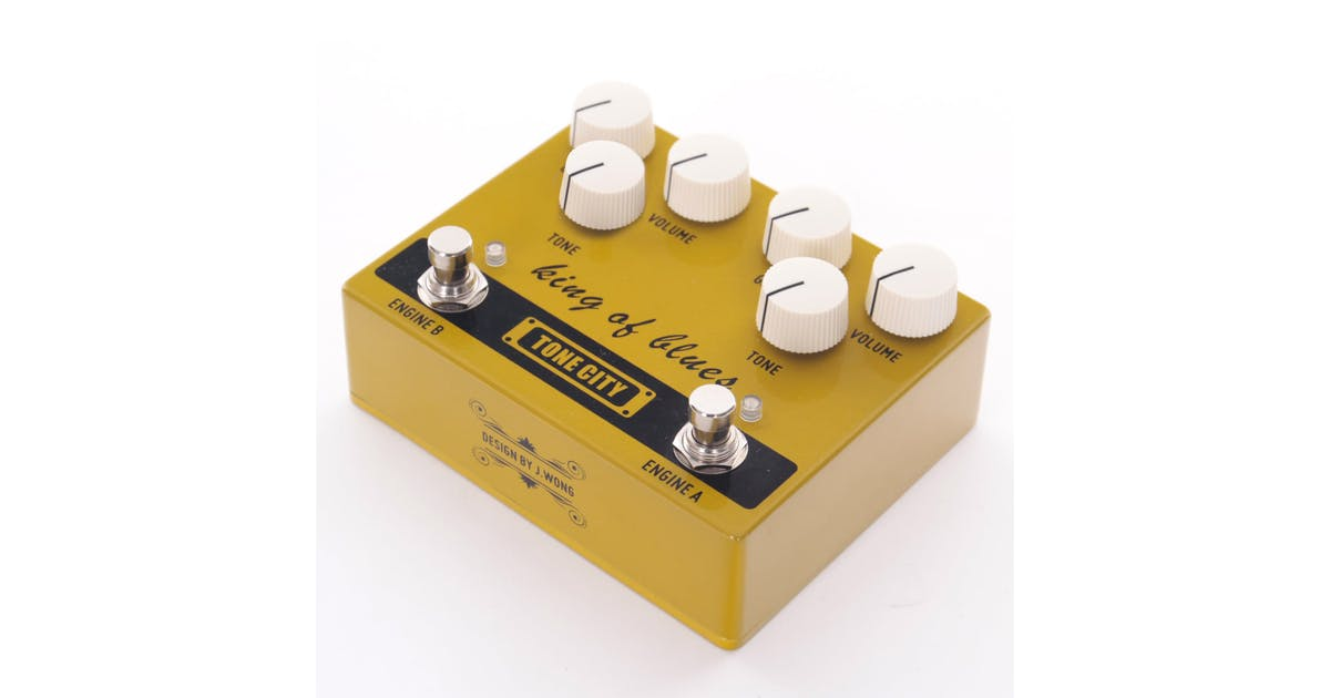 tone city king of blues overdrive pedal andertons music co. Black Bedroom Furniture Sets. Home Design Ideas