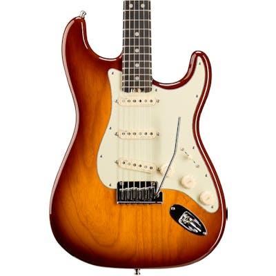 Fender American Elite Stratocaster Ebony Fretboard Tobacco Sunburst