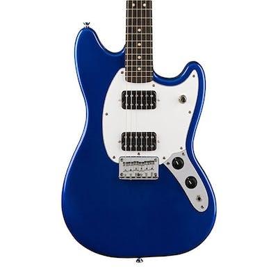 Squier Bullet Mustang HH in Imperial Blue w/ Indian Laurel Fingerboard