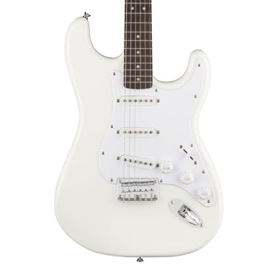Squier Bullet Stratocaster Hardtail Arctic White with Indian Laurel Fingerboard
