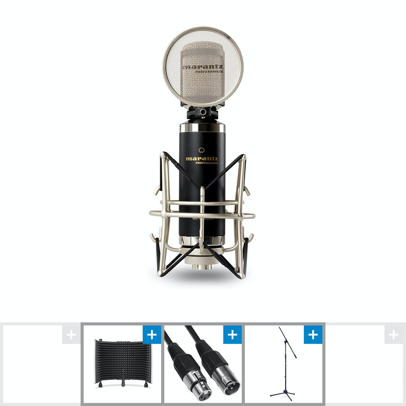 Image for Marantz MPM2000 Microphone w/ SoundShield Reflection Filter, Cable and Stand from Andertons Music Co.