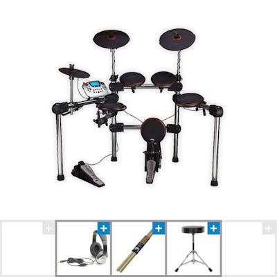 Carlsbro Commander 200 Electric Drum Kit w/ Stool, Sticks & Headphones