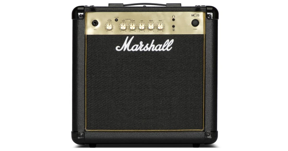 marshall mg15g 15w black and gold guitar combo andertons music co. Black Bedroom Furniture Sets. Home Design Ideas