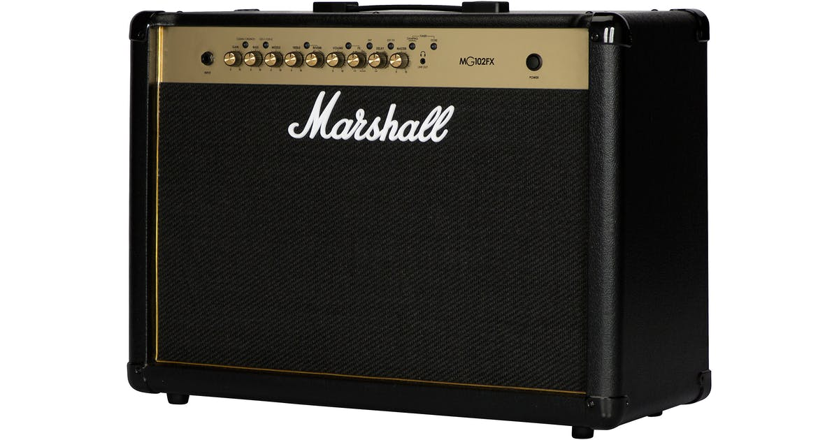 marshall mg102gfx 100w black and gold guitar combo andertons music co. Black Bedroom Furniture Sets. Home Design Ideas