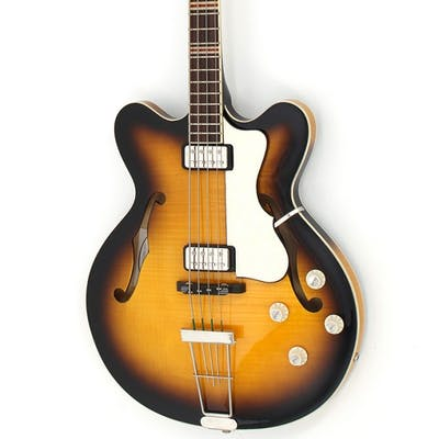 Hofner HCT Verythin Bass - Sunburst - Short Scale