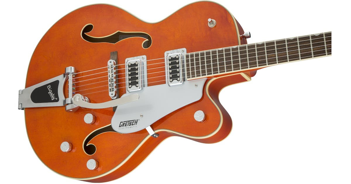 gretsch g5420t 2016 electromatic hollowbody w bigsby orange andertons music co. Black Bedroom Furniture Sets. Home Design Ideas