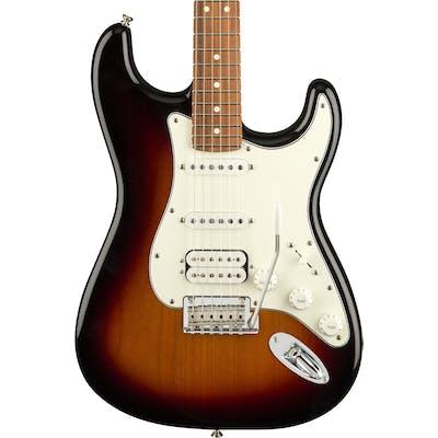 Fender Player Stratocaster HSS w/ Pau Ferro Fretboard in 3-Color Sunburst