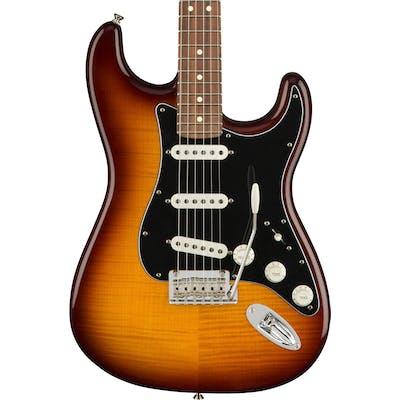 Fender Player Stratocaster Plus Top w/ Pau Ferro Fretboard in Tobacco Burst