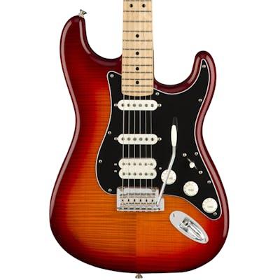 Fender Player Stratocaster HSS Plus Top w/ Maple Fretboard in Aged Cherry Burst