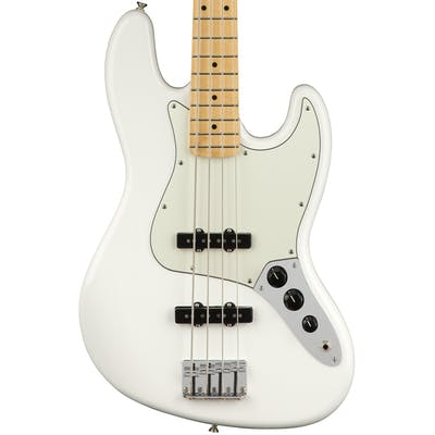 Fender Player Jazz Bass w/ Maple Fretboard in Polar White