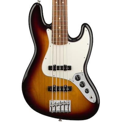 Fender Player Jazz Bass 5-string w/ Pau Ferro Fretboard in 3-Color-Sunburst