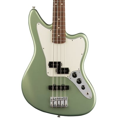 Fender Player Jaguar Bass w/ Pau Ferro Fretboard in Sage Green Metallic