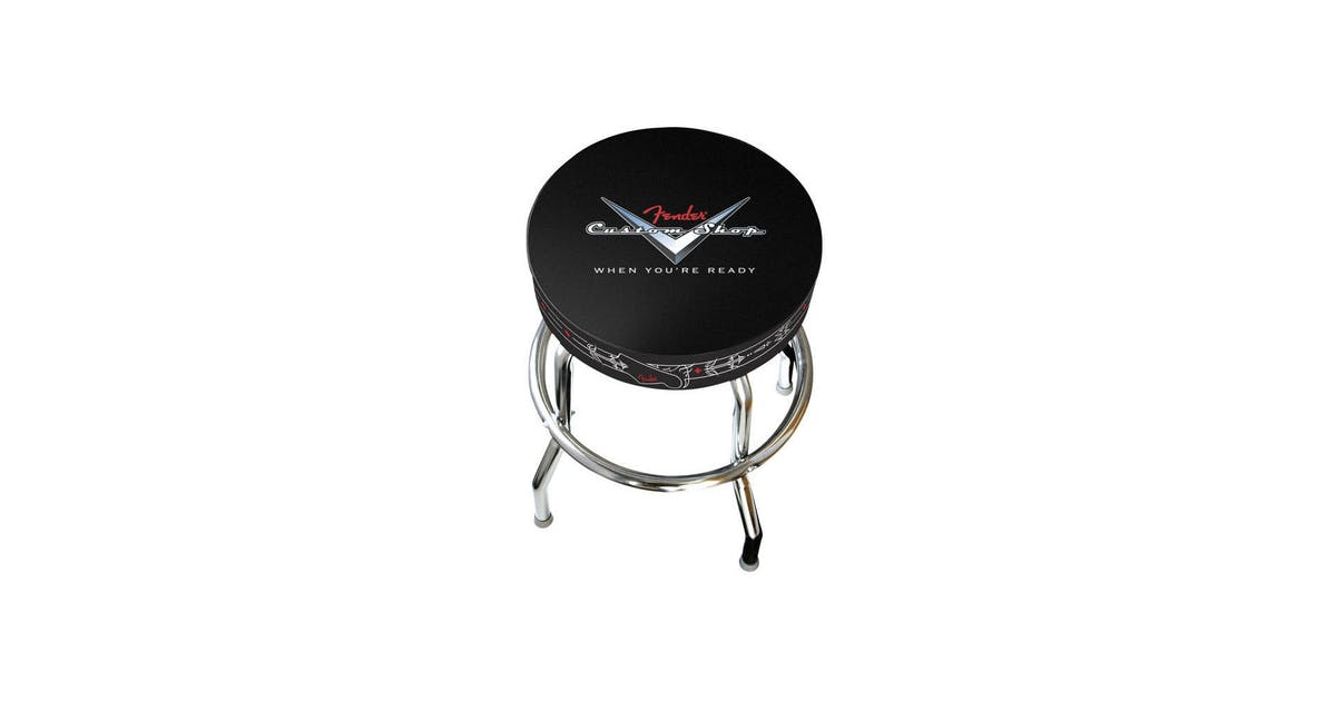 Amazing Fender 24 Custom Shop Pinstripe Bar Stool Andertons Music Co Camellatalisay Diy Chair Ideas Camellatalisaycom