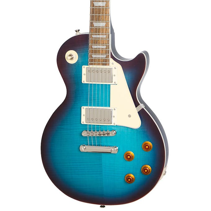 Epiphone Les Paul Standard PlusTop PRO In Blueberry Burst - Andertons Music  Co