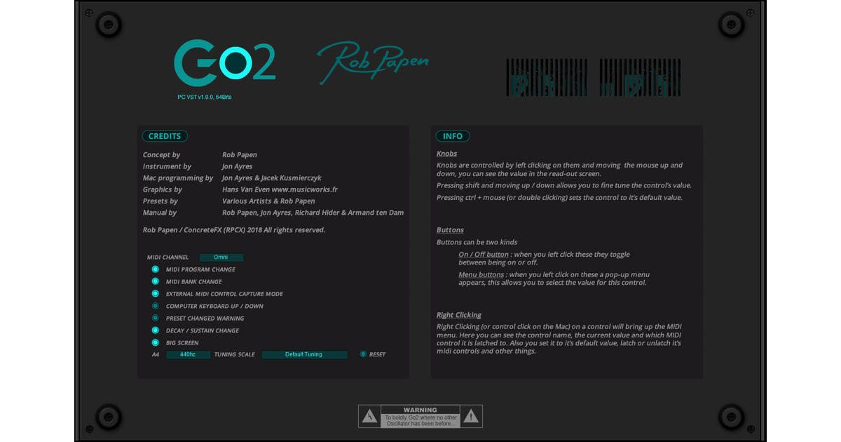 Rob Papen Go2 - ESD (Download) - Andertons Music Co