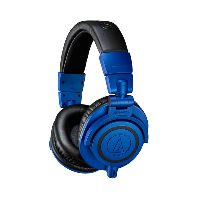1347fd17c47 Audio-Technica ATH-M50X Pro Monitor Headphones in Limited Edition Blue    Black