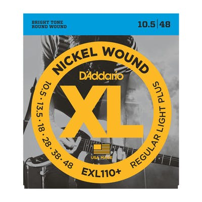 D'Addario XL EXL110+ 10.5-48 Regular Light Plus Set