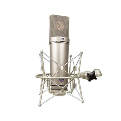 Neumann U87 AI Microphone in Nickel Finish w/ EA87 Shockmount