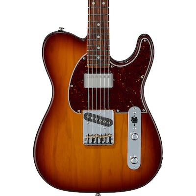 G&L USA Fullerton Deluxe ASAT Classic Bluesboy in Old School Tobacco Sunburst