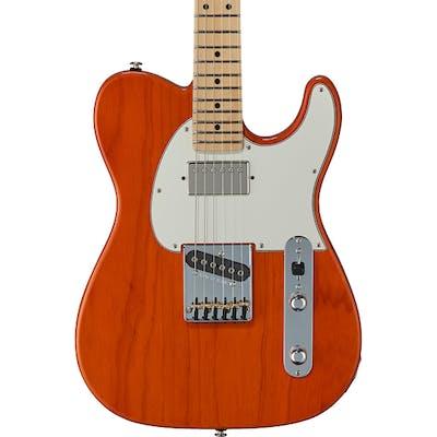 G&L USA Fullerton Deluxe ASAT Classic Bluesboy in Clear Orange w/ Maple Fingerboard