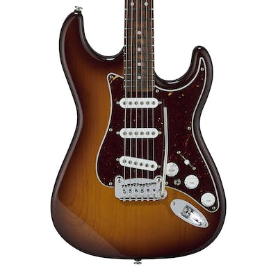 G&L USA Fullerton Deluxe S-500 in Old School Tobacco Sunburst With Caribbean Rosewood Fingerboard
