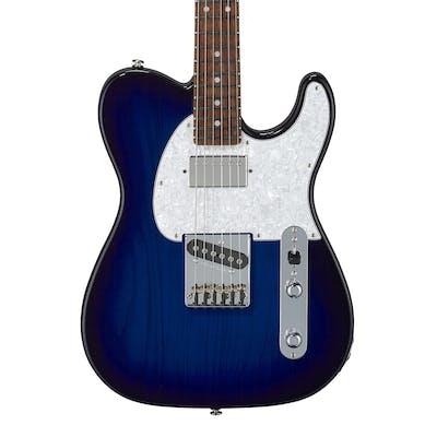 G&L USA Fullerton Deluxe ASAT Classic Bluesboy in Blueburst w/ Caribbean Rosewood Fingerboard