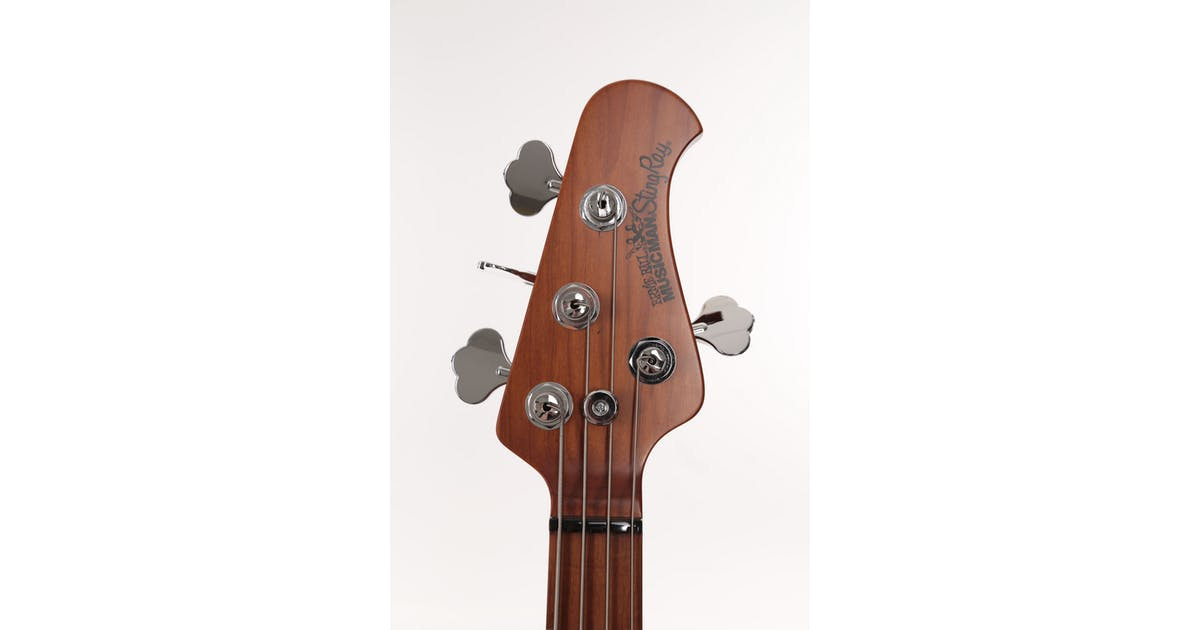 music man stingray in black with roasted maple neck andertons music co. Black Bedroom Furniture Sets. Home Design Ideas