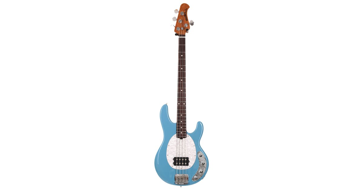music man stingray in chopper blue with roasted maple neck andertons music co. Black Bedroom Furniture Sets. Home Design Ideas