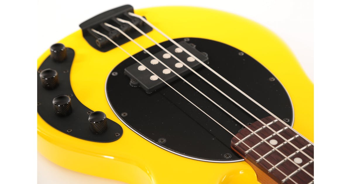 music man stingray in hd yellow with roasted maple neck andertons music co. Black Bedroom Furniture Sets. Home Design Ideas
