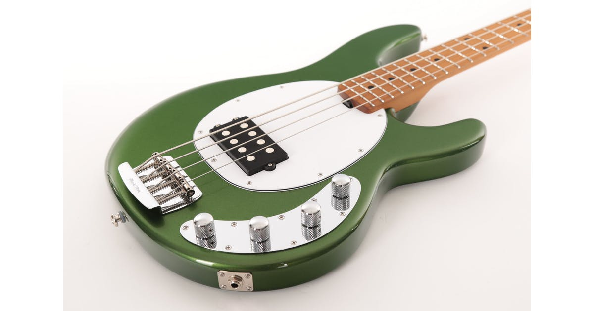 music man stingray in charging green with roasted maple neck andertons music co. Black Bedroom Furniture Sets. Home Design Ideas