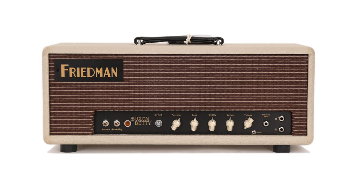 second hand friedman buxom betty 50 watt valve amp head andertons music co. Black Bedroom Furniture Sets. Home Design Ideas