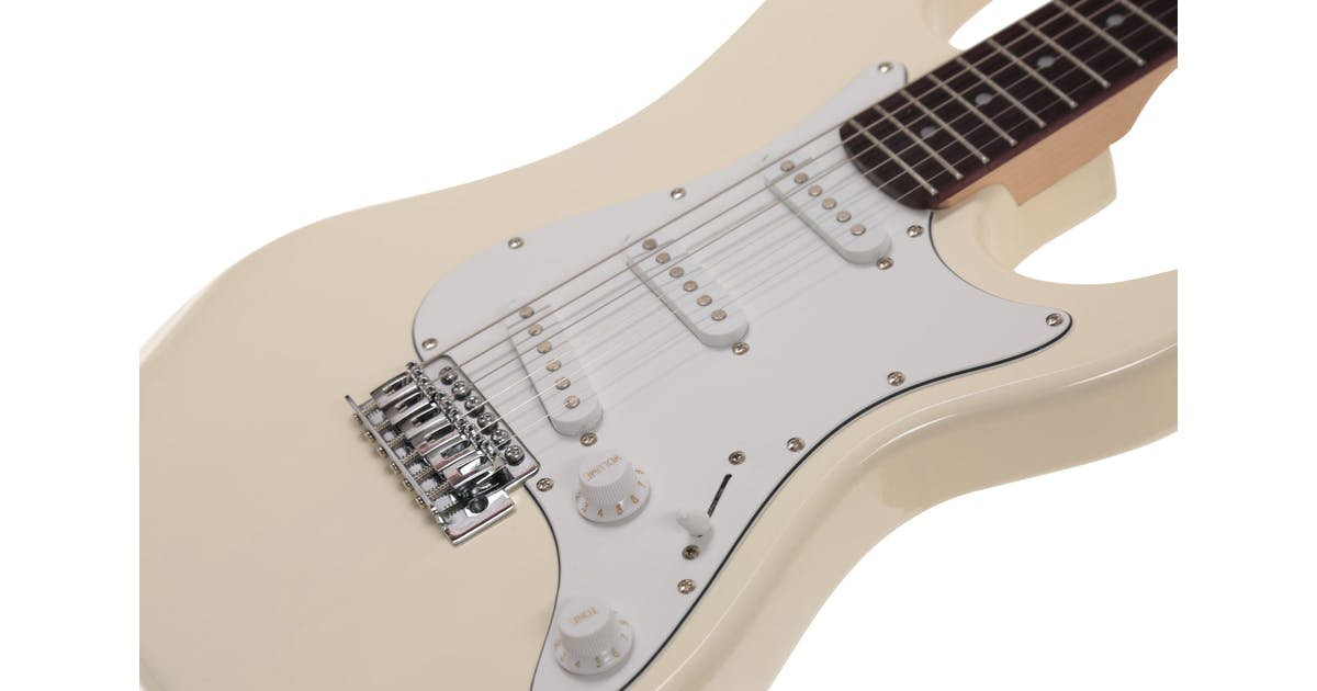 eastcoast gs100 electric guitar in arctic white andertons music co. Black Bedroom Furniture Sets. Home Design Ideas