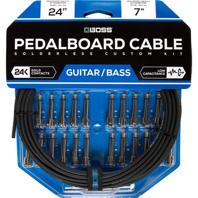 Boss BCK-24 Pedalboard Cable Kit - 24 Connectors, 24ft cable