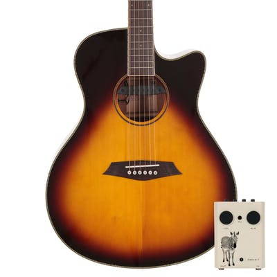 Sire R3 Grand Auditorium Acoustic Guitar with Outboard Preamp in Vintage Sunburst