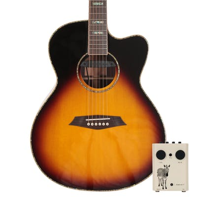 Sire R7 GZ Grand Auditorium Acoustic Guitar with Outboard Preamp in Vintage Sunburst