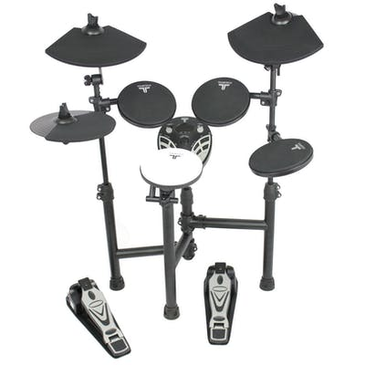 TourTech TT12S Drum Kit & Accessories inc. Headphones, Sticks & Throne