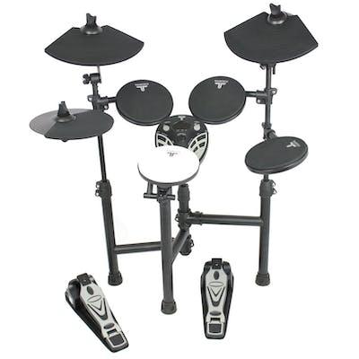TourTech TT12S Drum Kit, Amp & Accessories inc. Headphones, Sticks & Throne