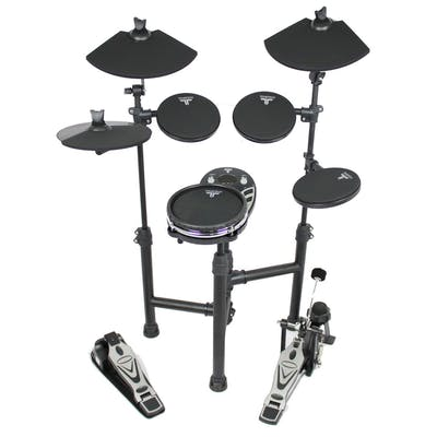 TourTech TT12SM Drum Kit & Accessories inc. Headphones, Sticks & Throne